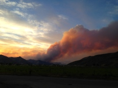 Sunset : Beaver Creek Fire : August 16